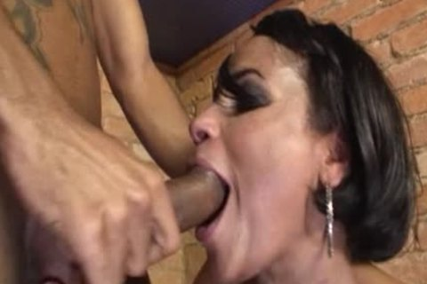 darksome boy In A naughty ass fucking tranny three-some